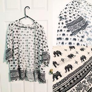 White Elephant Kimono